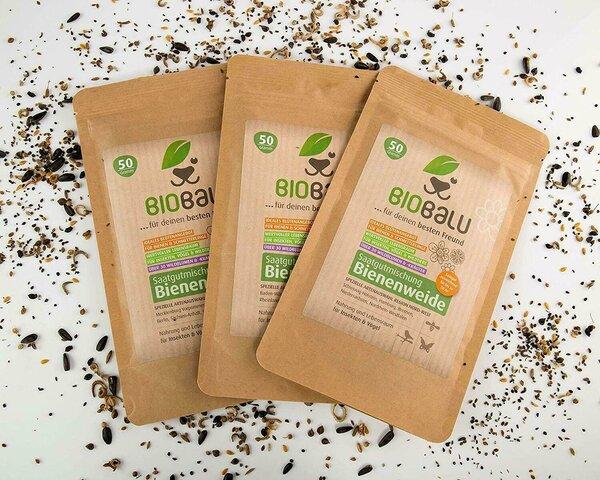 Biobalu Bienenweide Saatgutmischung Natur- Umweltschutz 50g