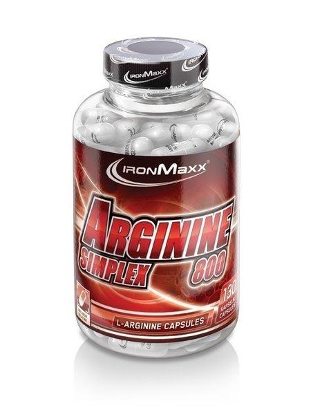 Ironmaxx L-Arginin Simplex 800, 130 Kapseln a 750mg