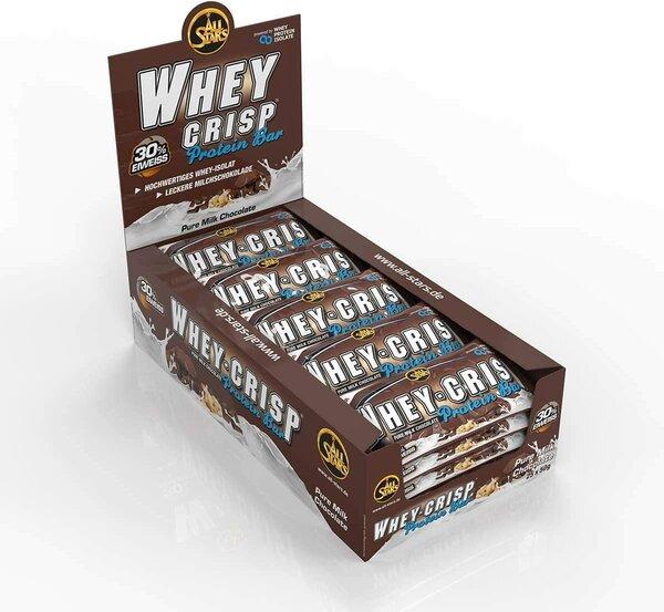 All Stars Whey-Crisp Protein Bar 25 x 50g Riegel Box