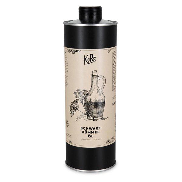 Koro Bio Schwarzkümmelöl | 1 Liter Natur BIO Qualität