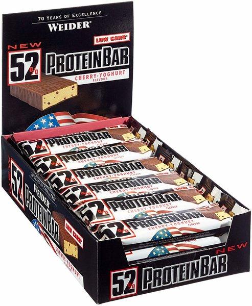 Weider 52% Protein Bar Box, 24x50g Riegel