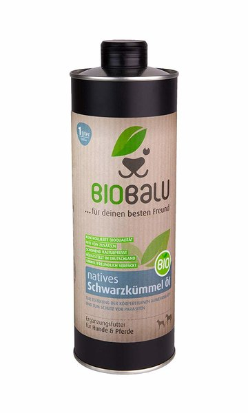 Biobalu Bio Schwarzkümmelöl Ergänzungsfutter 1000ml