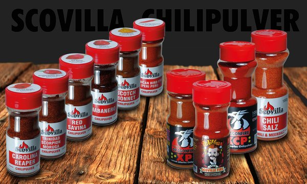 Scovillas Chilipulver im Shaker 50g