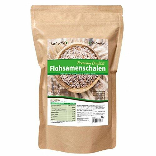 Mynatura Premium Qualität Flohsamenschalen 99% Reinheit, 1kg Beutel