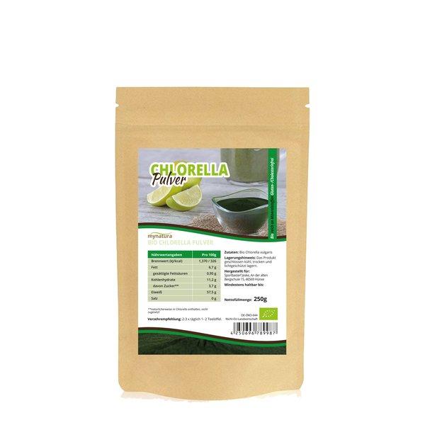 Mynatura Bio Chlorella Algen in Rohkostqualität 250g (PULVER)