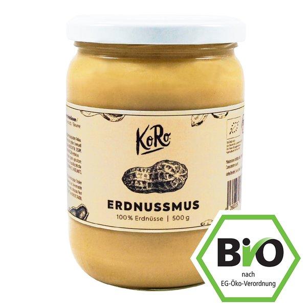 Koro Bio Erdnussmus Pur Vegan Smooth fein 500 g
