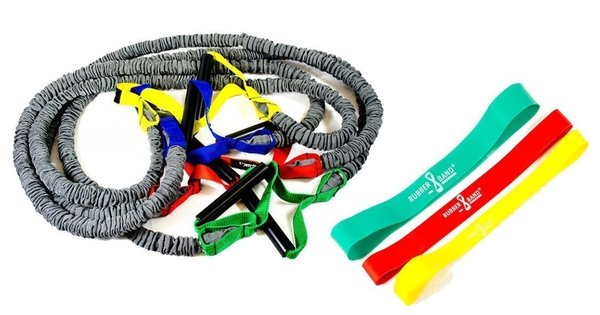 Dittmann Premium BodyTube Gymnastikband mit Plastikgriffen+ BONUS Rubberband