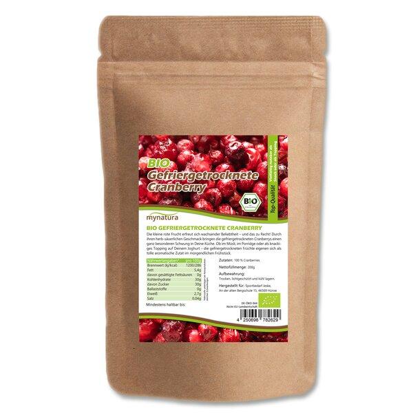 Mynatura Bio Cranberry gefriergetrocknet 200g