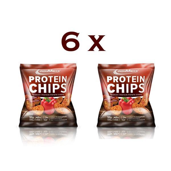 Ironmaxx Protein Chips - Tüte - Paprika ( 6 x 50g )