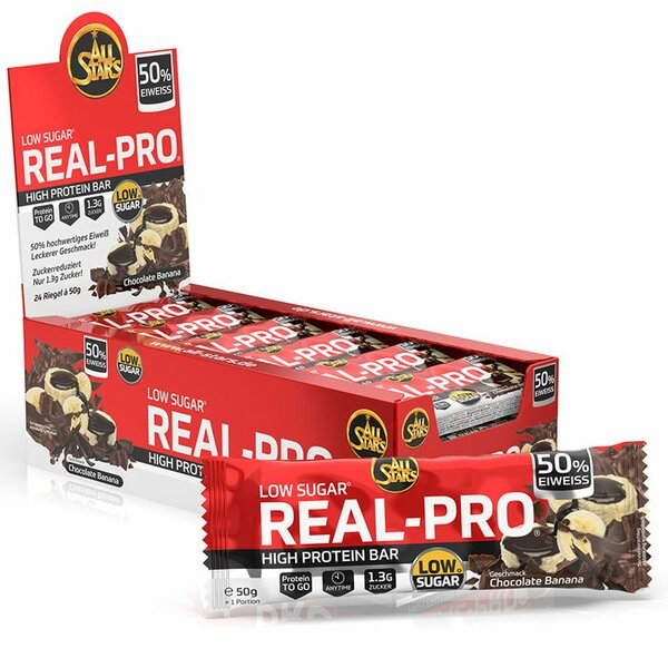 ALL STARS Real-Pro 50% Protein 24x50g Bar
