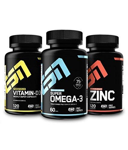 ESN Set - Vitamin D3, Omega3, Zinc