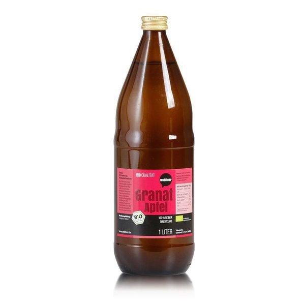 Wohltuer Bio Granatapfel reiner Direktsaft 1L Flasche