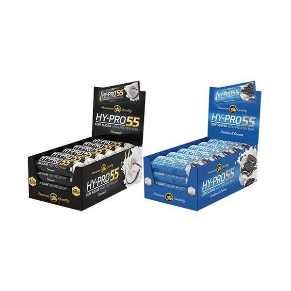 All Stars Hy-Pro 55 BOX Riegel Protein 24x55g NEU