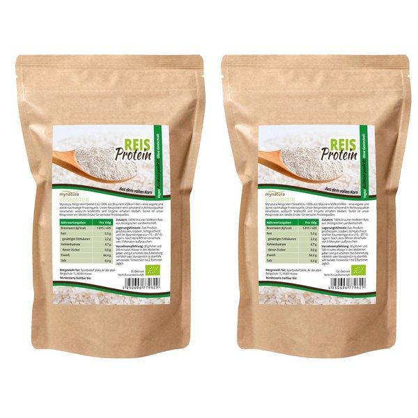 Mynatura Bio Reisprotein Glutenfrei Vegan Proteine 2000g