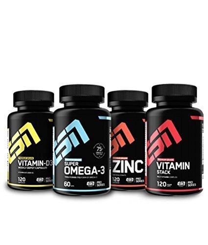 ESN Set – Vitamin D3, Omega3, Zinc, Vitamin Stack