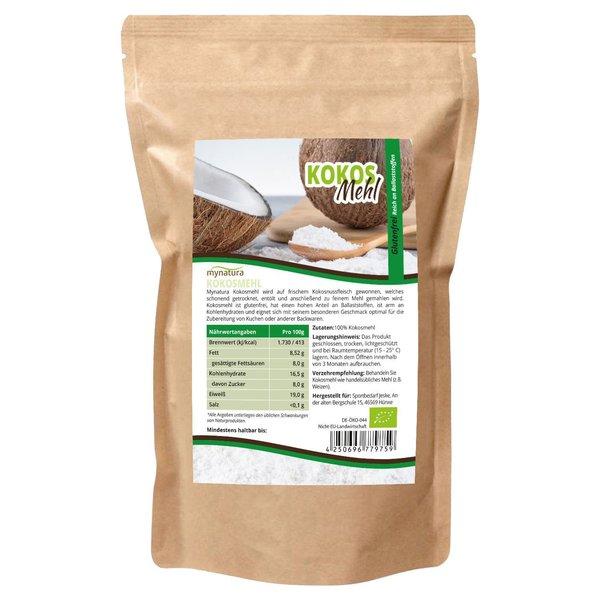 Mynatura Bio Kokosmehl 1000g entölt - Vegan