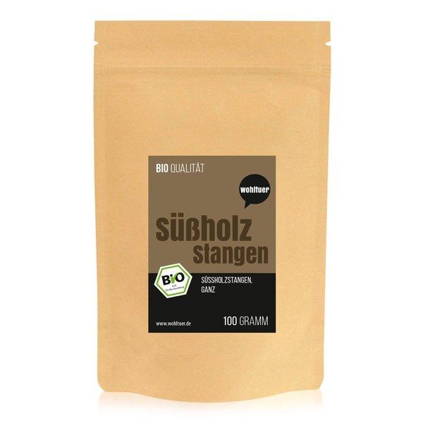 Wohltuer Bio Süßholzstangen ganz | Süßholzwurzel aus Spanien Tee 100g