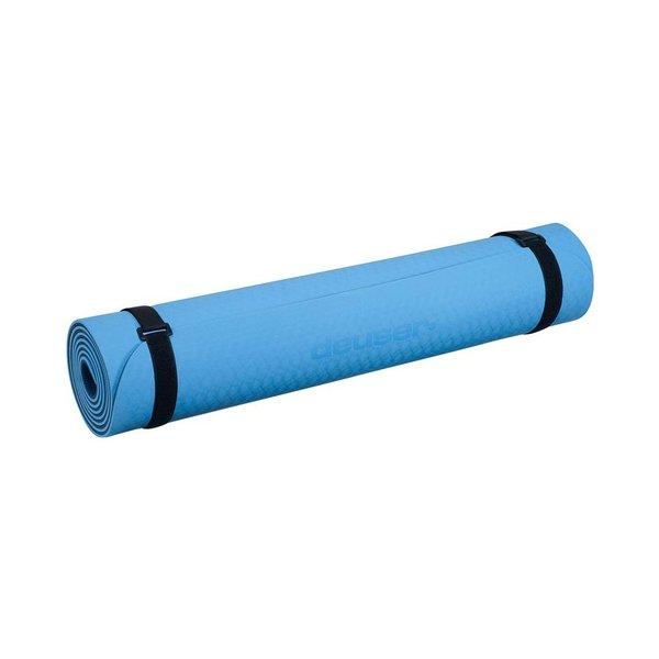 Deuser Yoga Matte TPE hellblau/dunkelblau