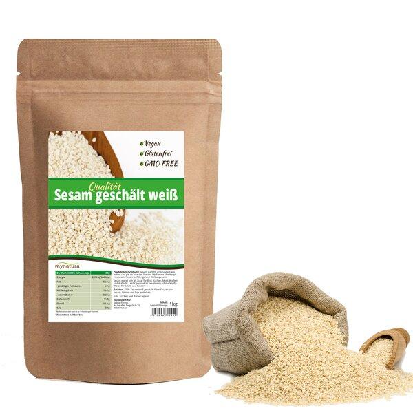 Mynatura Sesam weiß geschält Doppelpack (2x 1kg)
