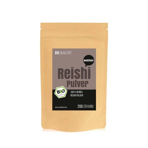 Wohltuer Bio Reishi Pulver Vitalpilz Mineralstoffreiche 200g